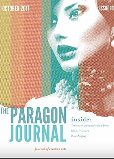 "Cover designed by Christopher Shearer, Published by Paragon Press, featuring ""The Dinner Cancer"""